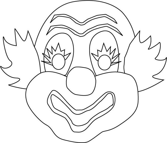 dessin de coloriage Clown gratuit CP08238