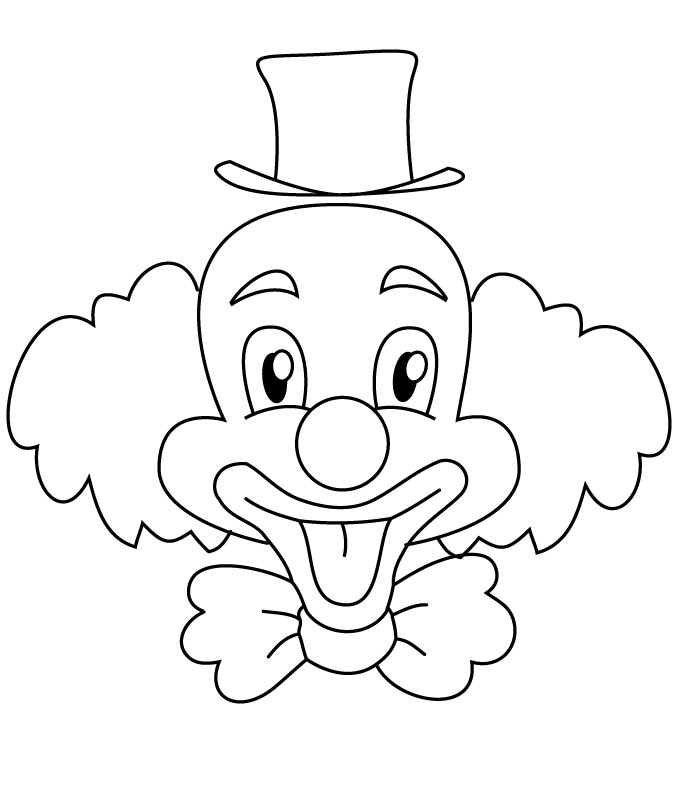 dessin de coloriage Clown gratuit CP08260
