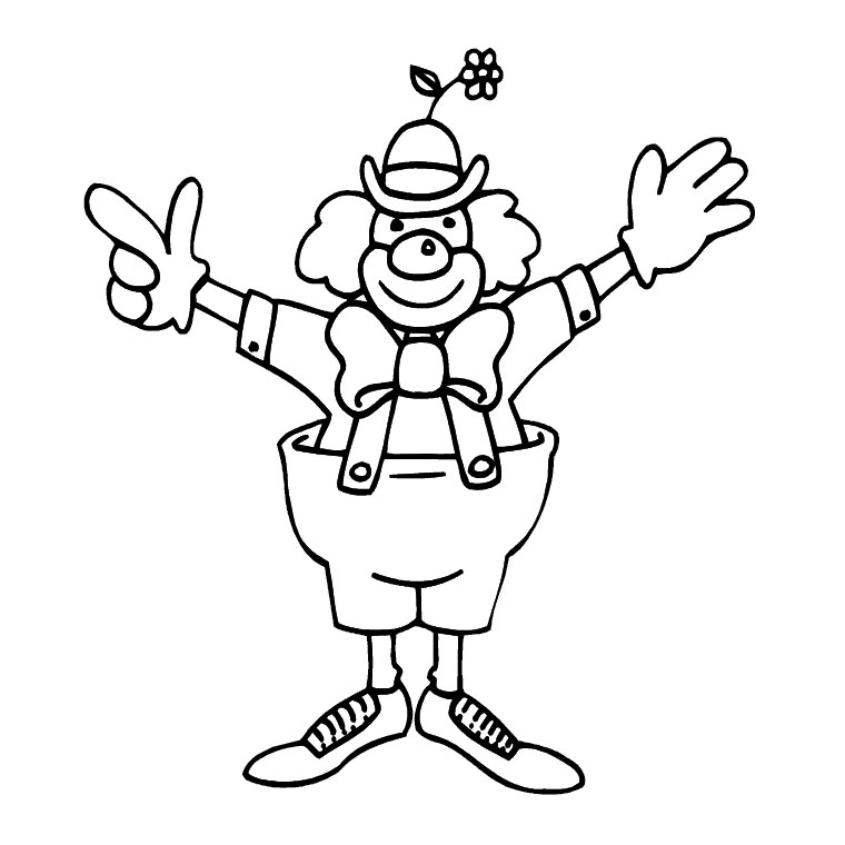 dessin de coloriage Clown gratuit CP08276