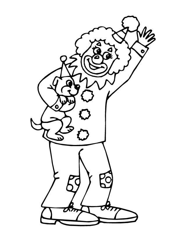 dessin de coloriage Clown gratuit CP08223