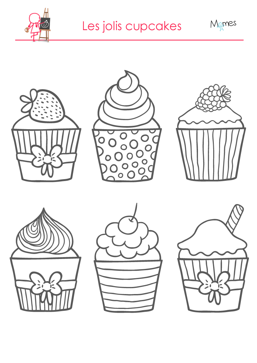dessert coloring pages On dessin de cuisine