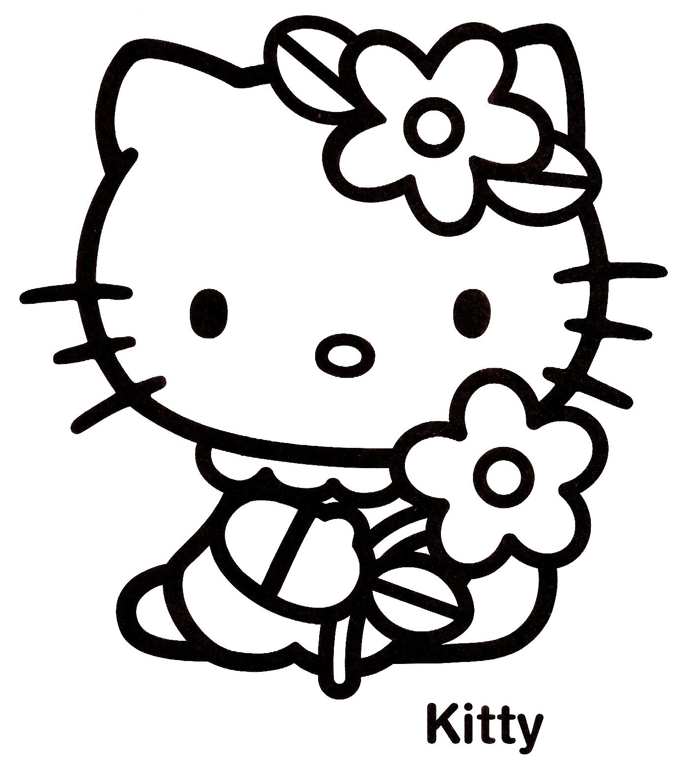 dessin de coloriage Hello kitty gratuit CP13559