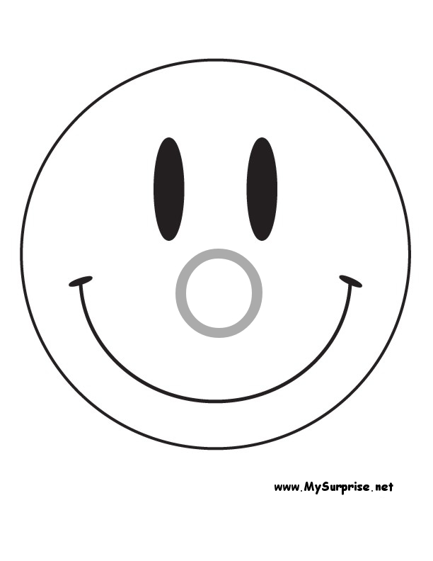 dessin de coloriage Smiley gratuit CP24098