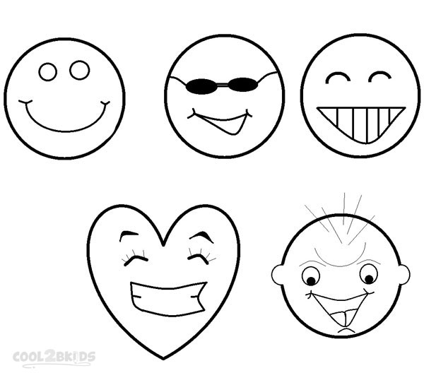 dessin de coloriage Smiley gratuit CP24121