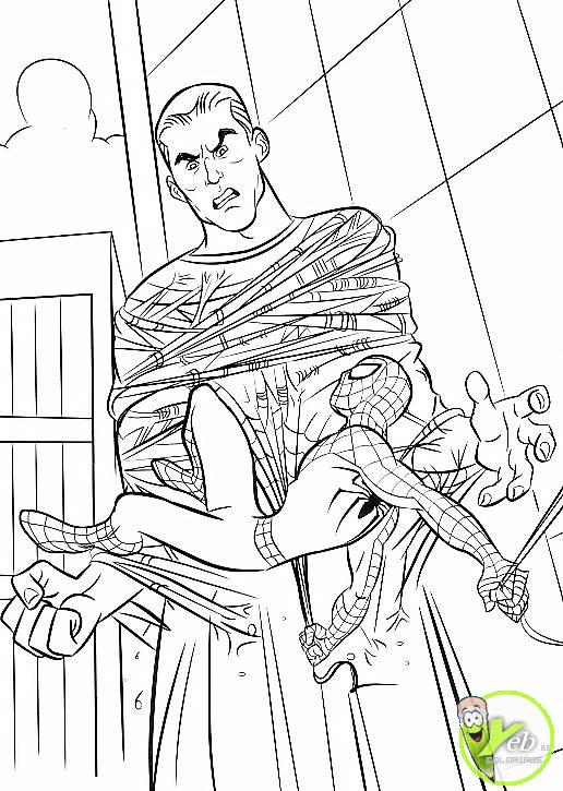 Nos jeux de coloriage spiderman imprimer gratuit page 2 of 15 - Coloriage spiderman 1 ...