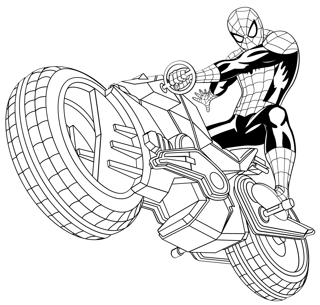 Dessin de coloriage spiderman imprimer cp24628 - Coloriage spiderman 1 ...